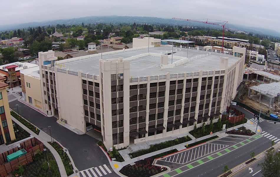 Main Street Cupertino Parking Structure Largo Concrete Inc