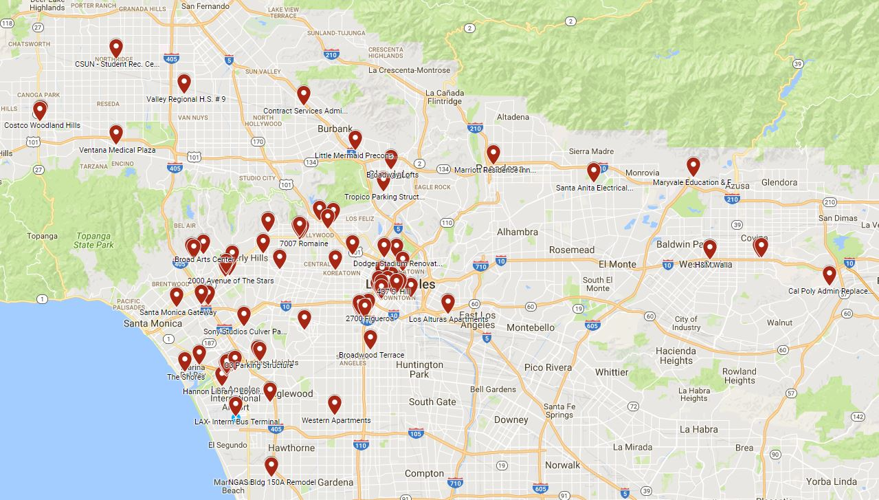 project map of los angeles county - largo concrete, inc.