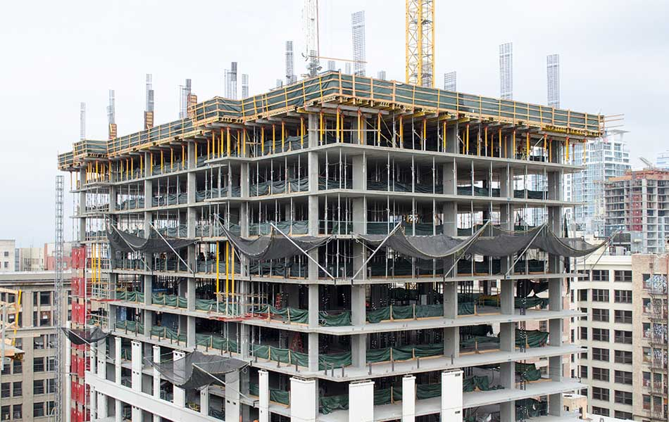 Shoring And Formwork On A Cantilevered Balcony Deck