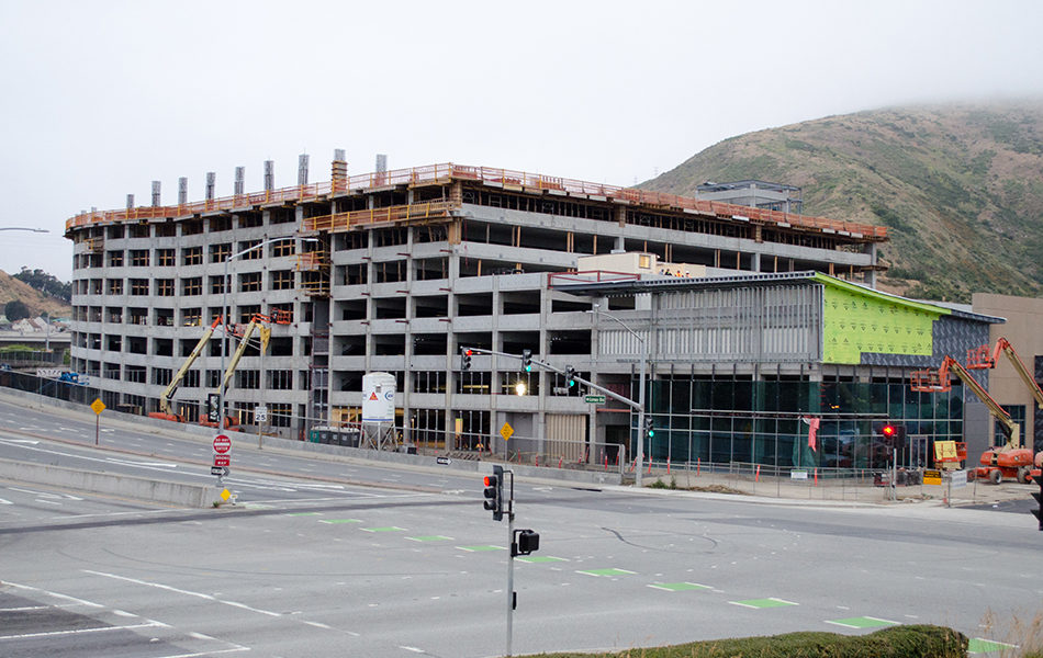 Britannia Cove Parking Structure Tops Out