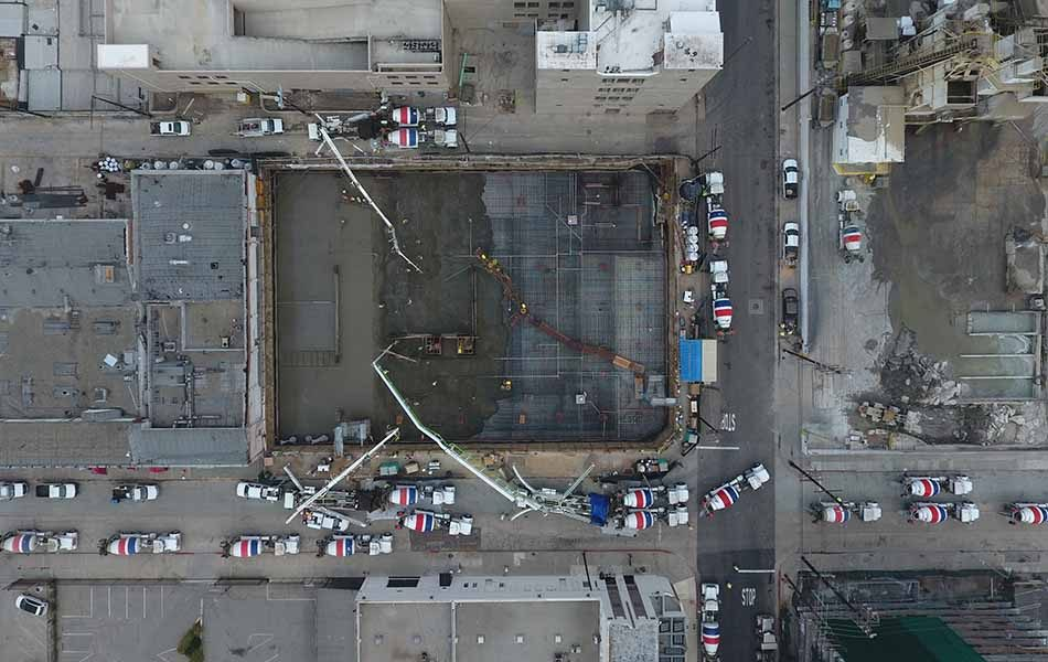 953 N. Sycamore – Mat Foundation Pour