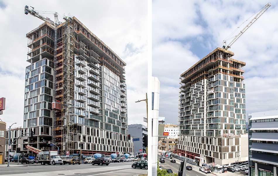 High-Rise at Wilshire & Crescent Tops Out