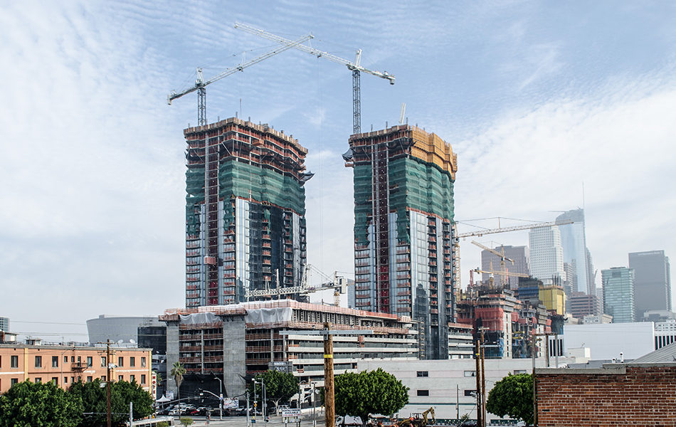 Los Angeles Mega-Development Circa Tops-Out