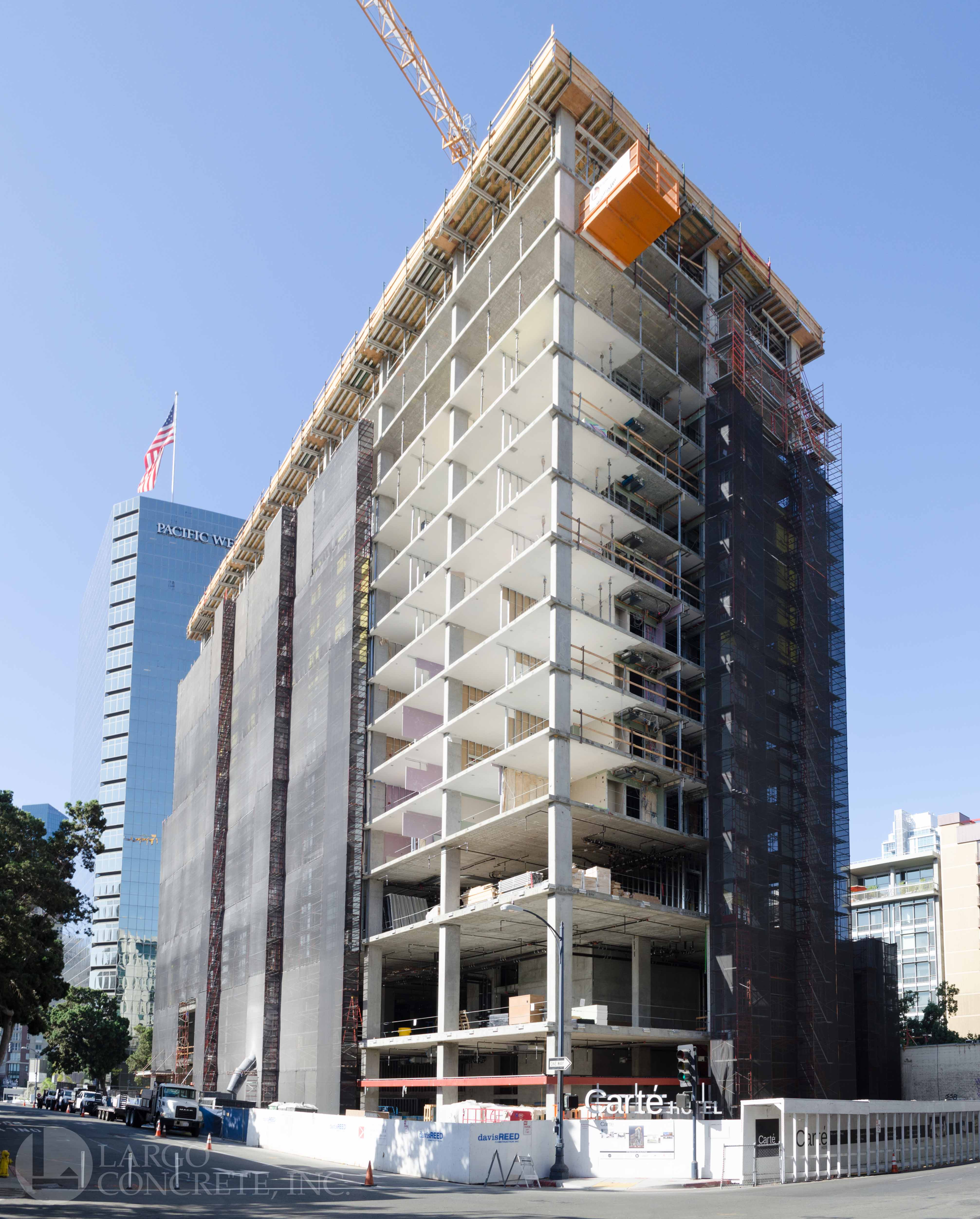Carte Hotel Tops Out in San Diego - Largo Concrete, Inc