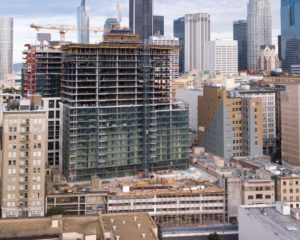 High-Rise Topping-Out at 732 Spring, Los Angeles